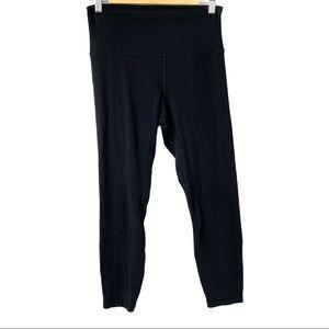 Lululemon cropped black leggings size 8